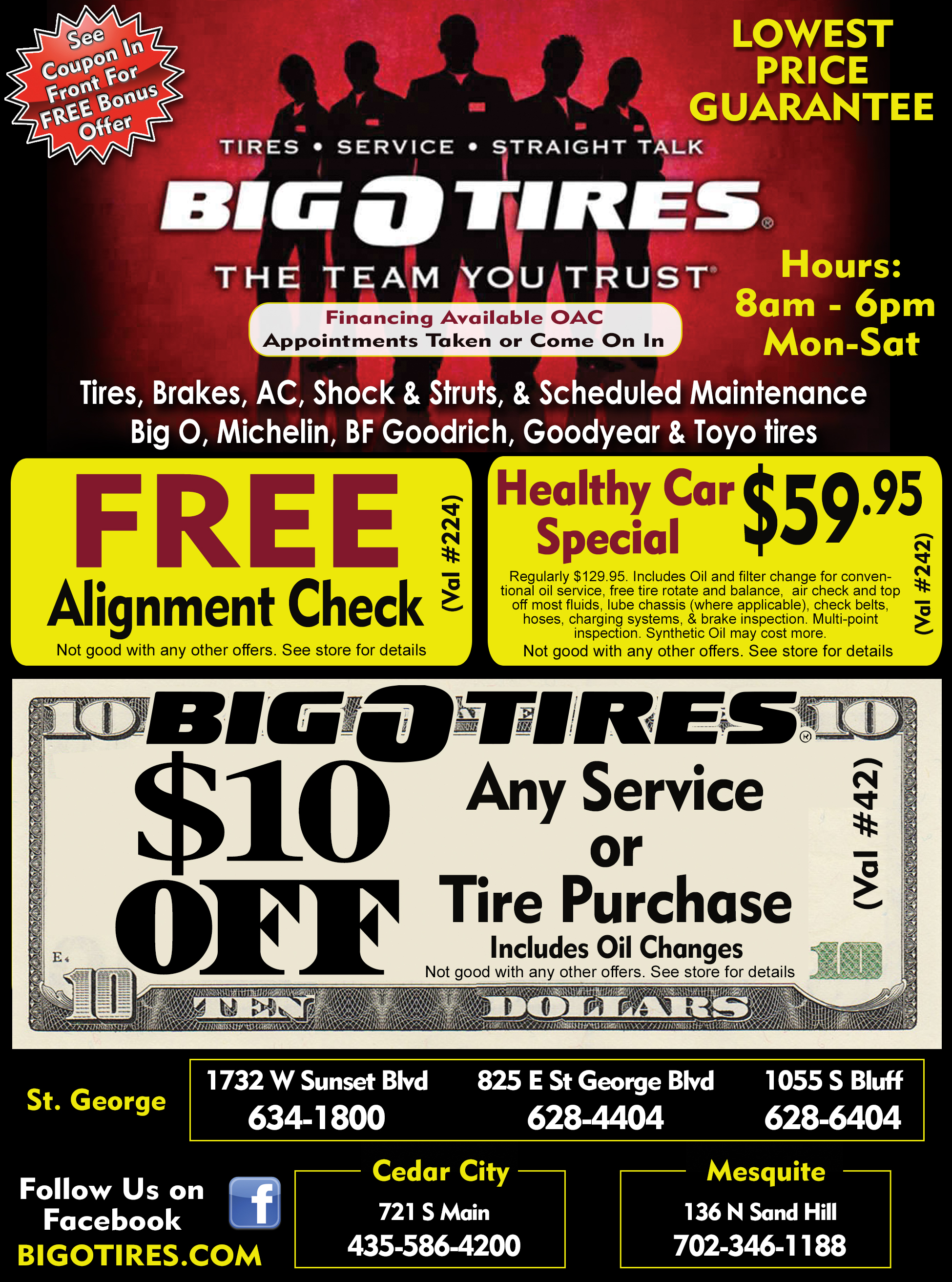 Big O Tires Dixie Direct Savings Guide