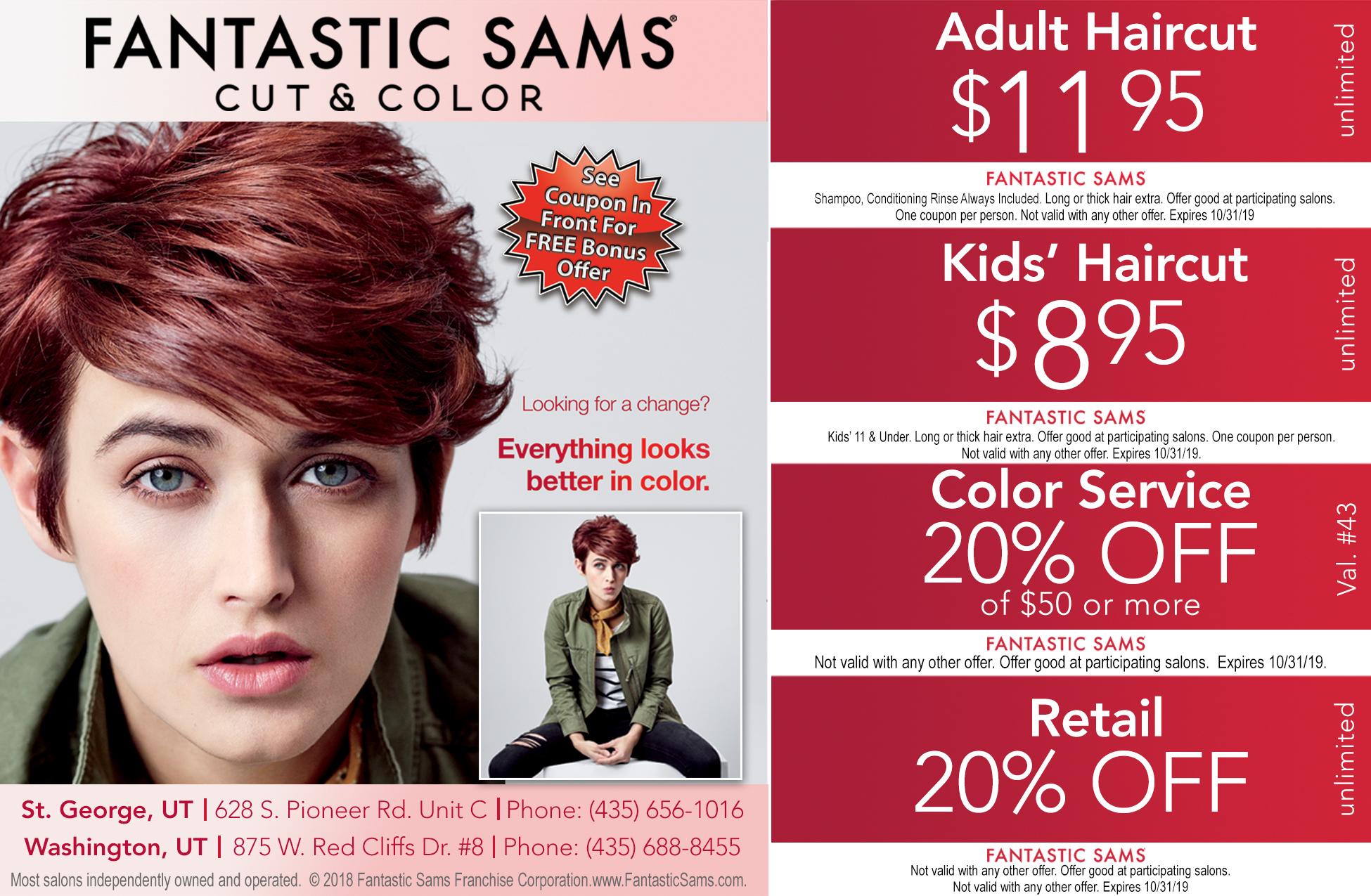 coupons for fantastic sams hair salon