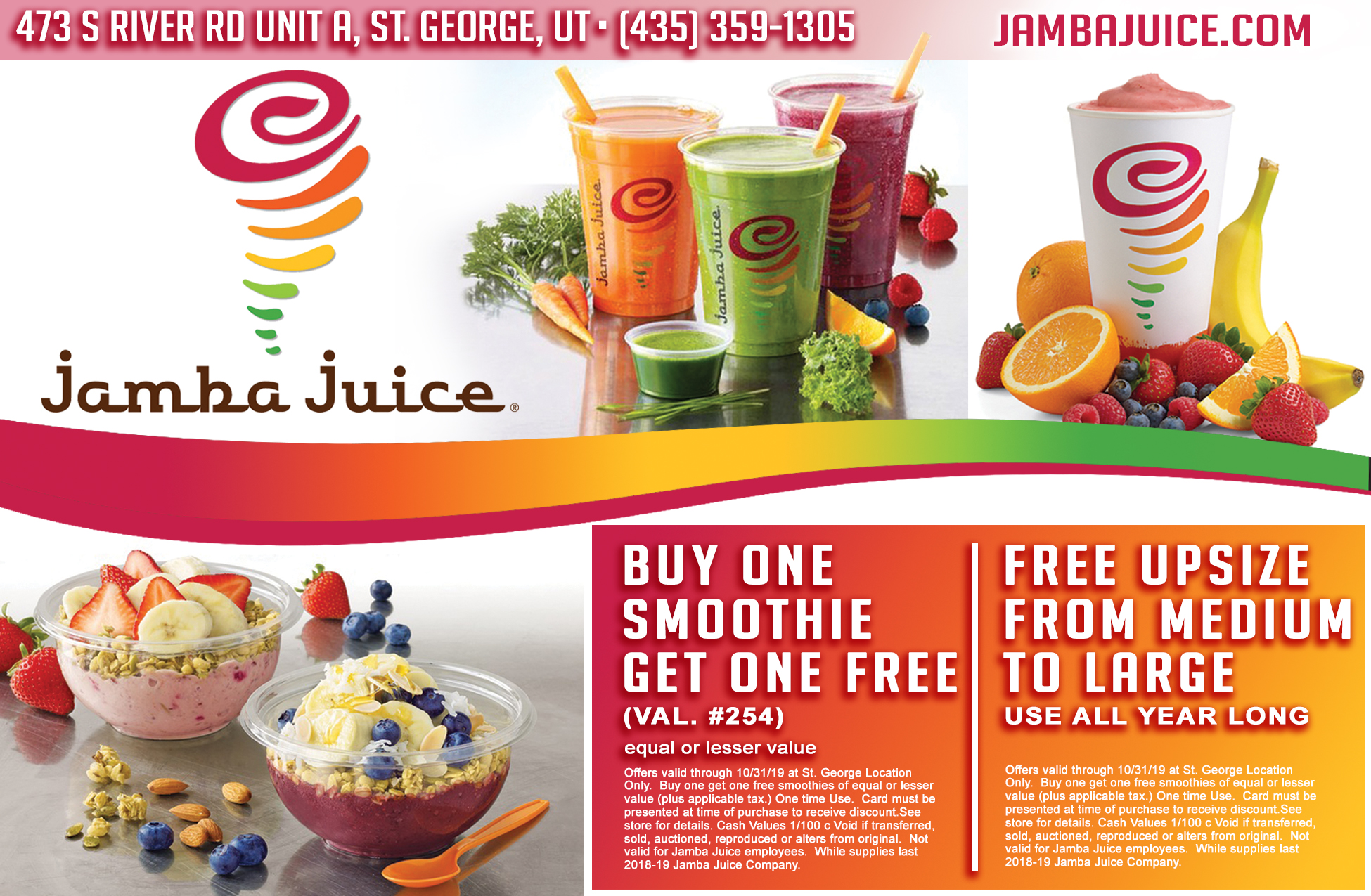 We find Jamba Juice locations in Utah. All Jamba Juice locations in your state Utah (UT).