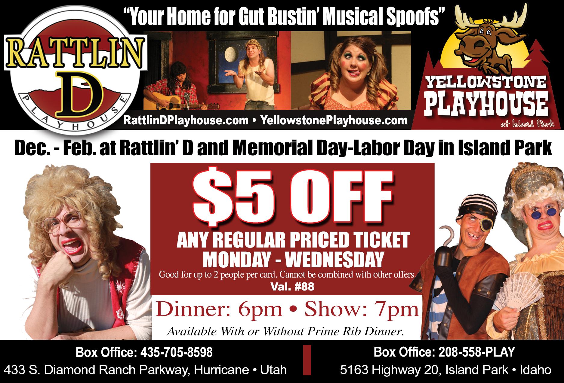 Rattlin D Playhouse - dinner and a show