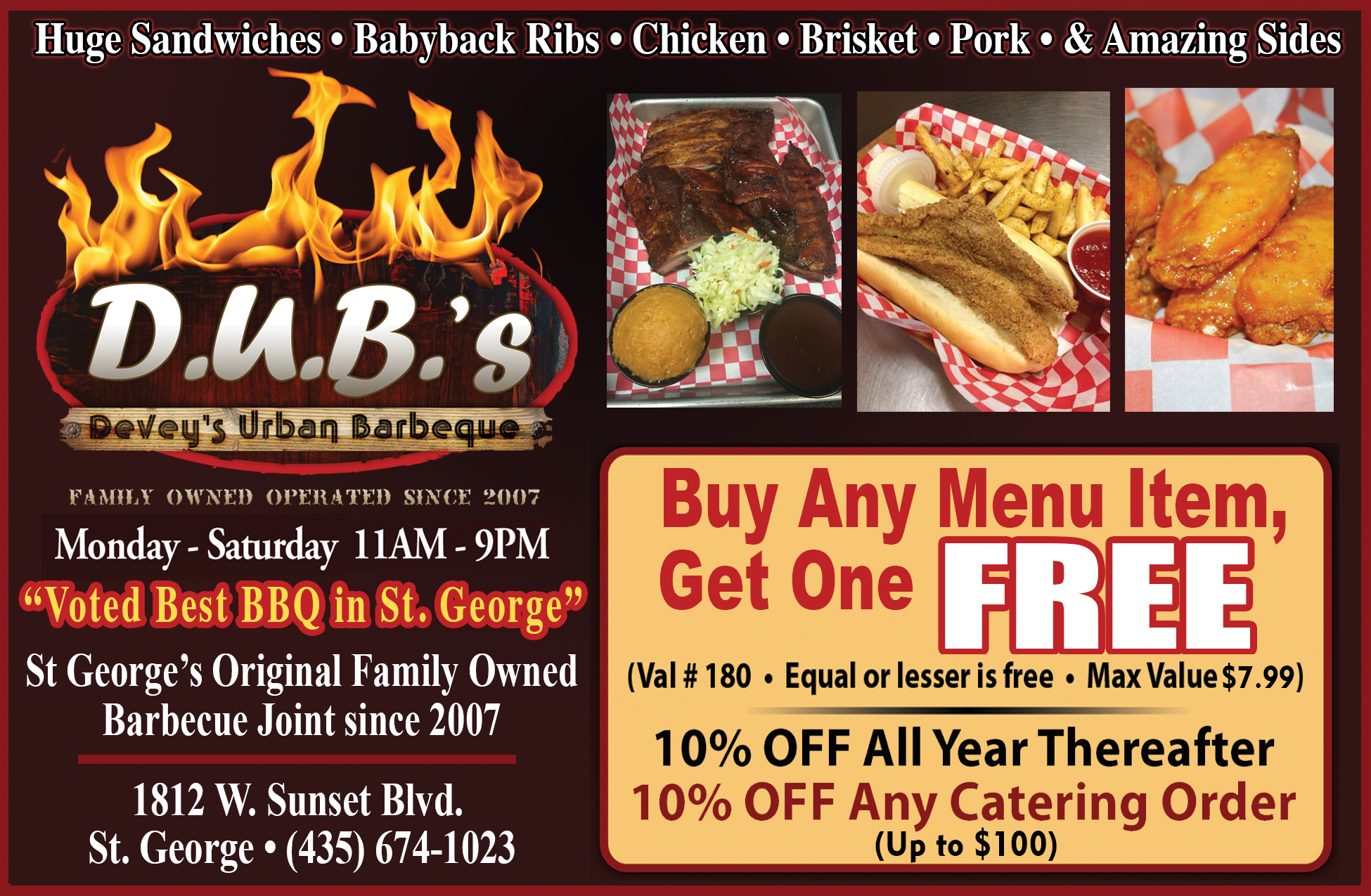 .U.B.S Deveys Urban Barbeque - family owned and operated