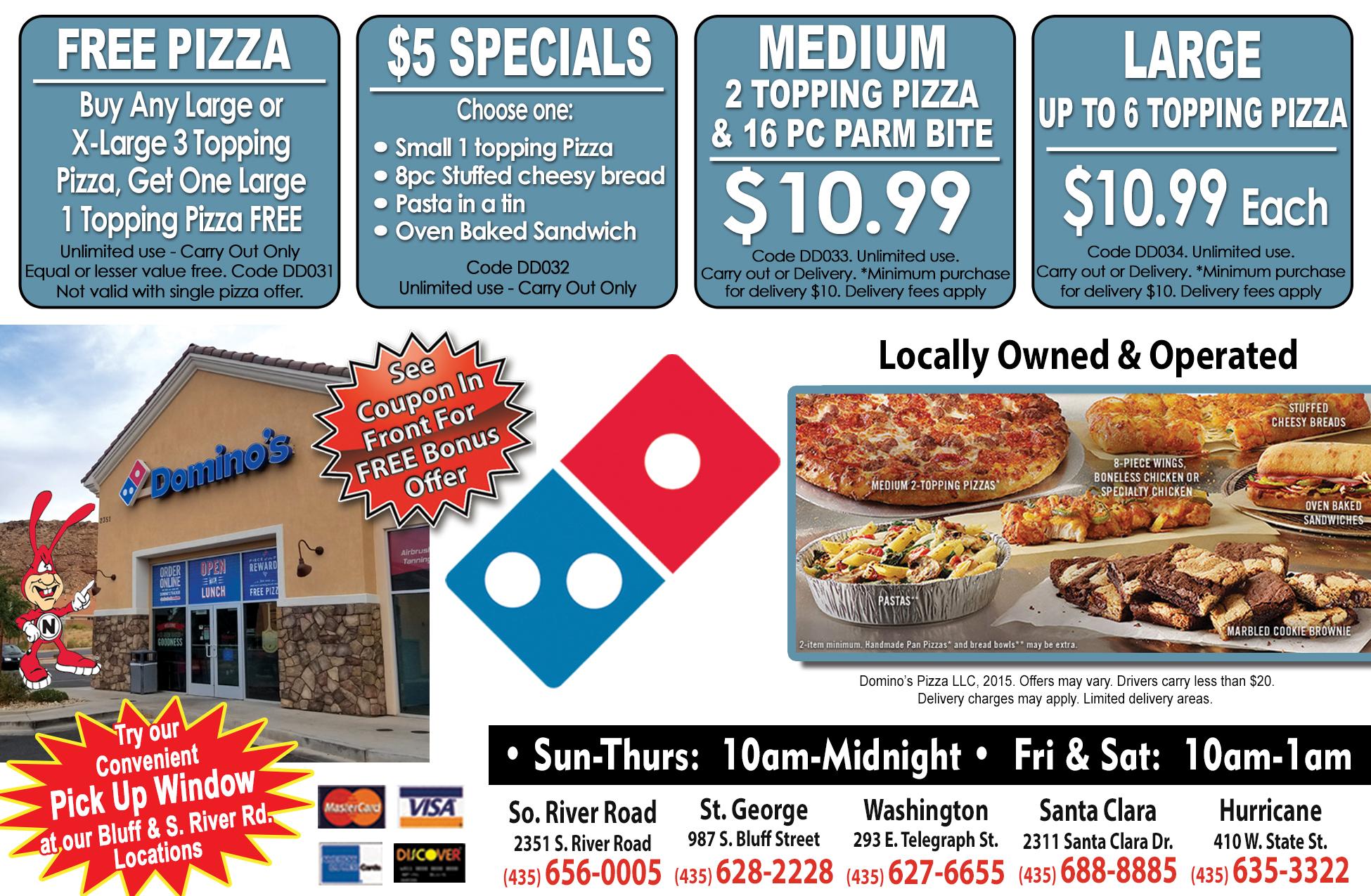 Dominos - Pizza deals