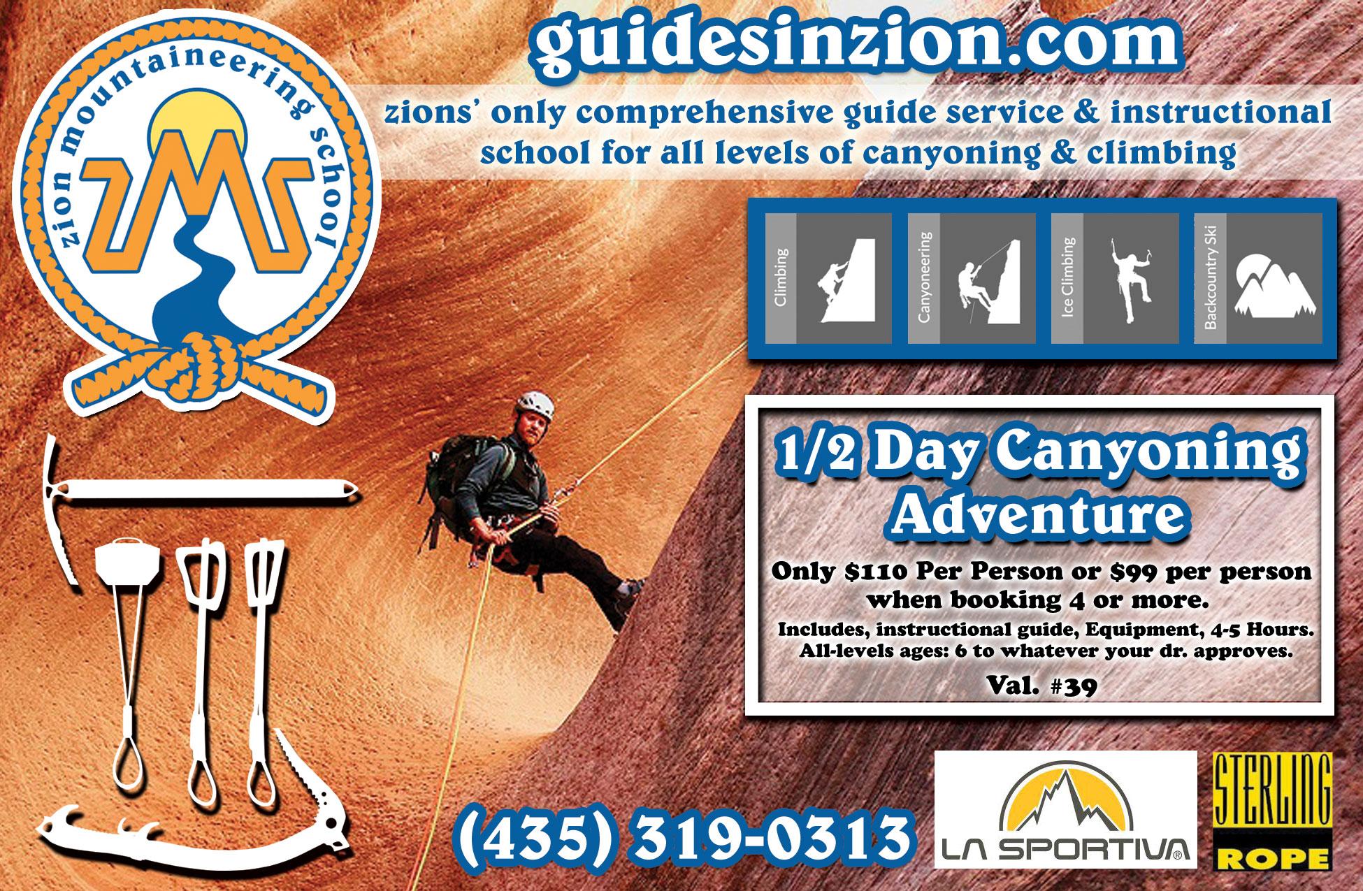 Zion Mountaineering School - education