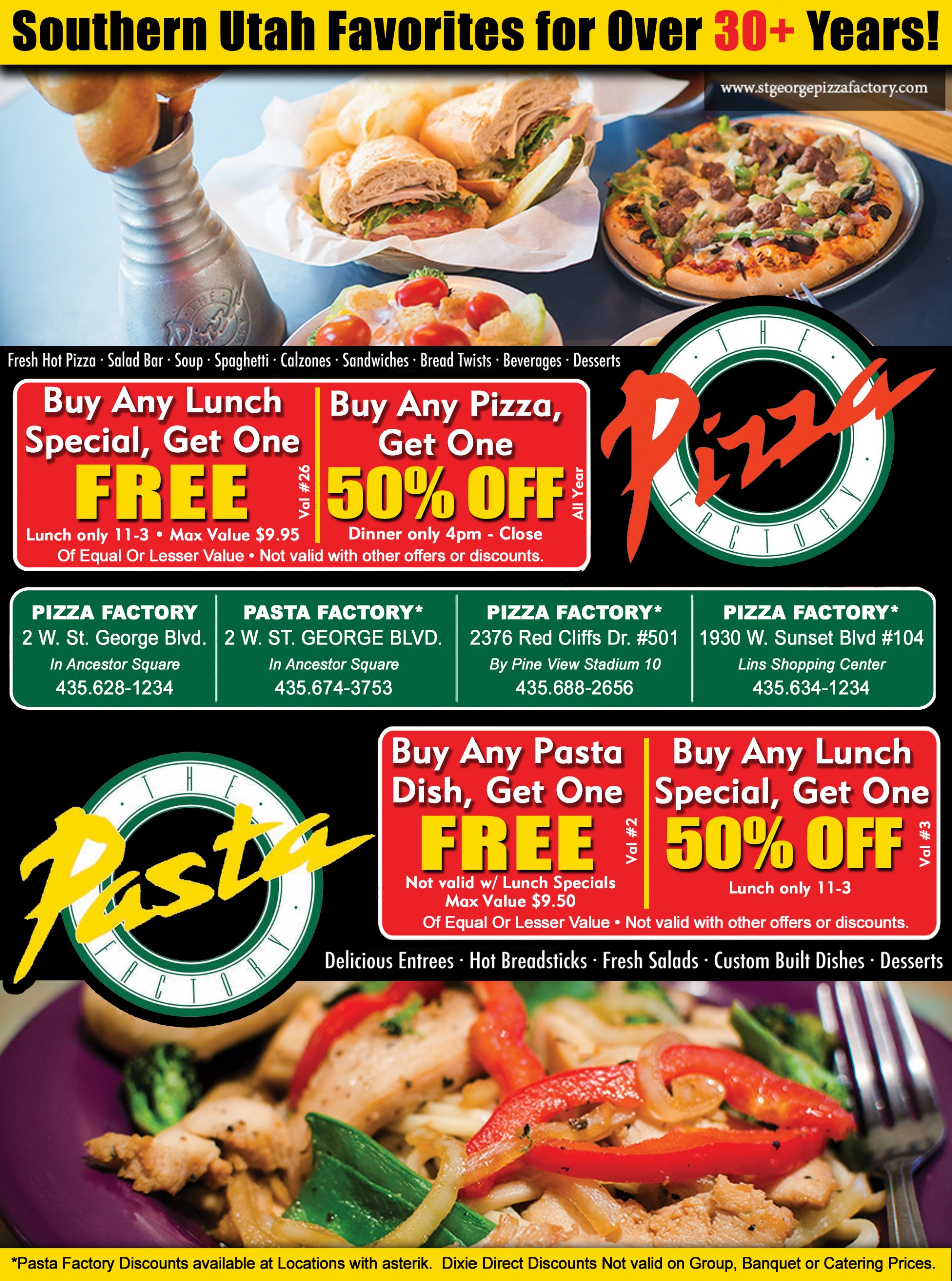 Pizza Factory - Dining, Take Out