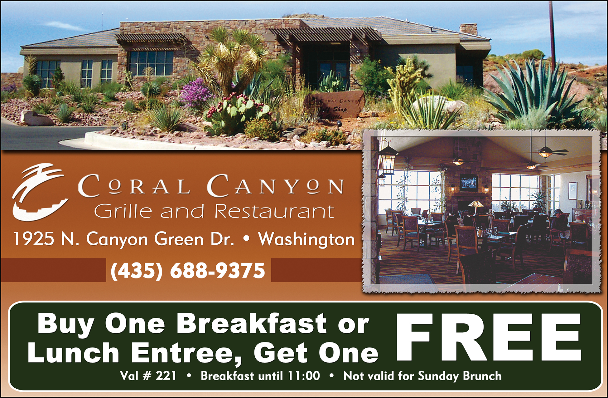 Coral canyon Grille and Restaurant