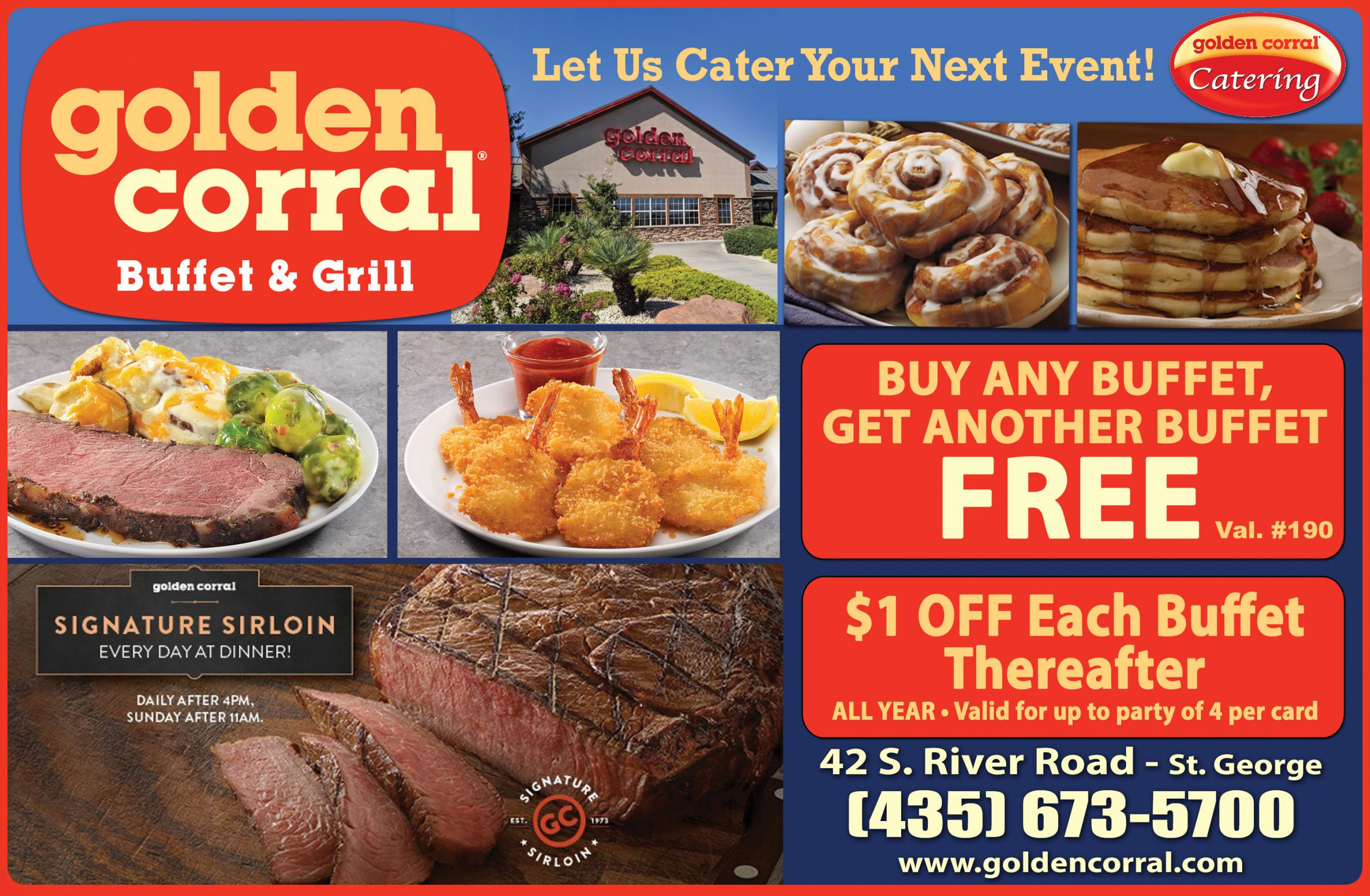 golden corral - buffet where you can eat all day