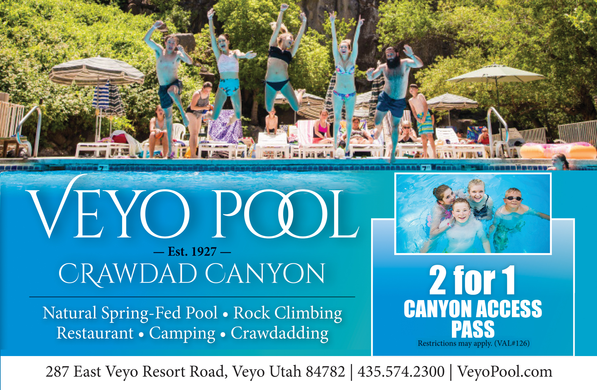 Veyo Pool and Crawdad Canyon - Swimming